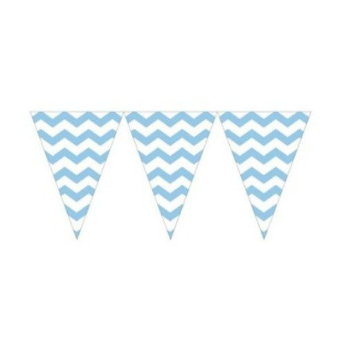 Light Blue Chevron Banner