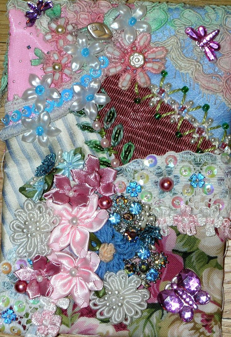 Ribbon embroidery bedspread designs - Crazy Quilt Images Crazy Quilting And Embroidery Blog By Pamela Kellogg Of Kitty And Me