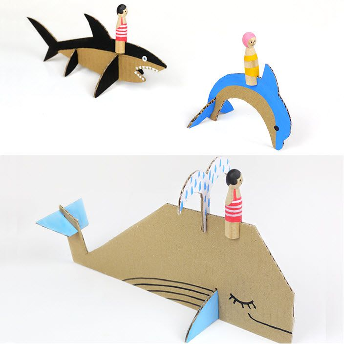 Animaux marins à fabriquer