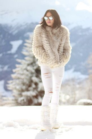 Beige-Fur-Jacket-White-Skinny-Jeans-White-Snow-Boots-Grey-Sunglasses