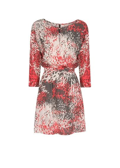 MANGO - Studs printed dress