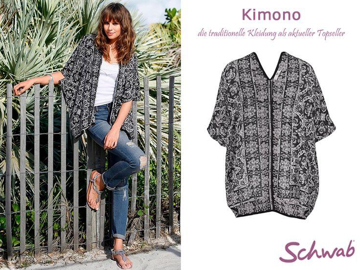 Klassisch und modern zugleich kommt der wunderschöne #Kimono daher