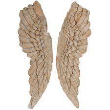 Wooden Angel Wings Wall Decor | Wayfair