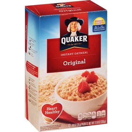 Instant Plain Oatmeal (packets or not, any brand): a PF ...