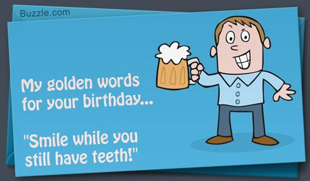 Birthday card message about smiling