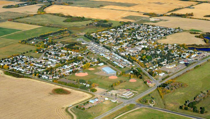Aerial view of Bon Accord, Alberta