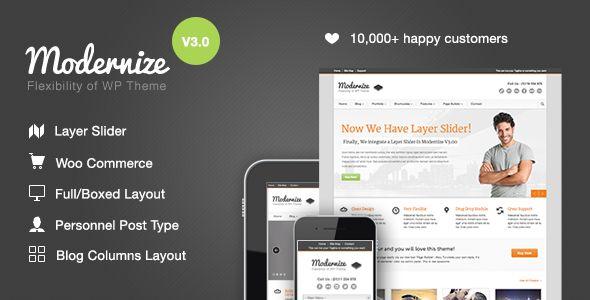Modernize – Flexible Corporate, Business WordPress Responsive Theme