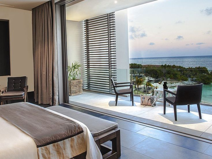 NIZUC RESORT & SPA: The garden villas may be more private, but you're here for the beach. So book one of the eight penthouse suites, which have outdoor living rooms and Caribbean vistas.
