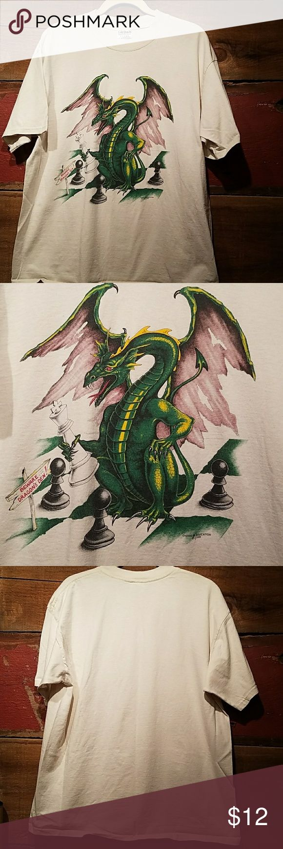 💥Buy 3 Get 1 Free💥 Dragon Chess Tee Awesome dragon chess tee, men's size XL. Buy 3 get 1 free on men's shirts! I will discount the bundle ☺ Shirts Tees - Short Sleeve
