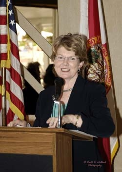 Florida Secretary of State Glenda Hood was the invited keynote speaker at the Florida Sister Cities State Convention hosted by Sarasota Sister Cities at the Helmsley Sandcastle Hotel on Lido Key in 2006.