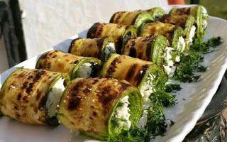 Karatay Yemekleri: Peynirli Izgara Kabak Rulo