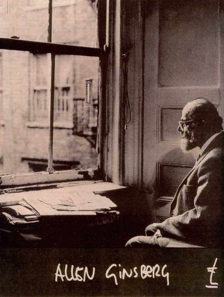 Allen Ginsberg (shot by Anton Corbijn)