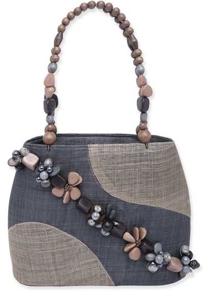 denim bag embellish with beads