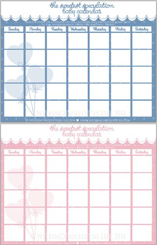Blank Calendar Stamp : The sweetest speculation baby calendar place a stamp or