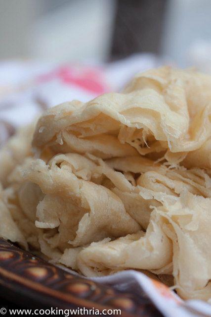 Trinidad Paratha Roti (Buss up Shot)  #Trinidad #Tobago #Caribbean #food #recipes #traditional