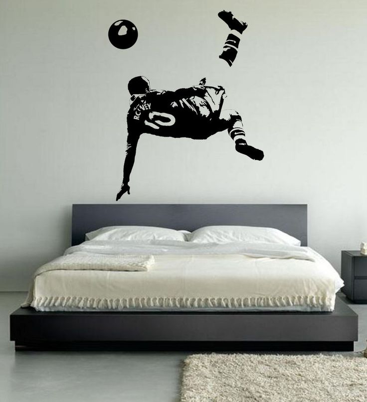 Wayne Rooney Football Wall Art Stickers, Over Head Kick,Manchester United  Player