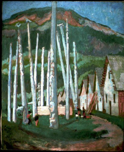 'Kispiox Village' / Emily Carr / B.C. Archives / PDP00634