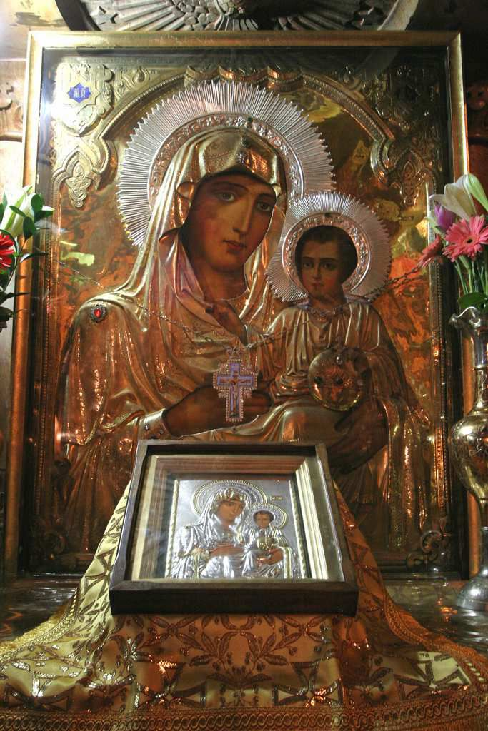 Close up of the Most Holy Lady of Jerusalem; (Panagia Ierosolymitissa.)