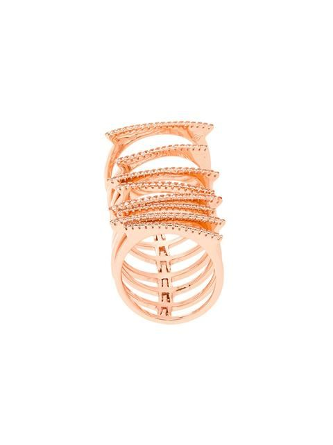 Shop Federica Tosi stack ring  in Degli Effetti Women from the world's best independent boutiques at farfetch.com. Shop 400 boutiques at one address.