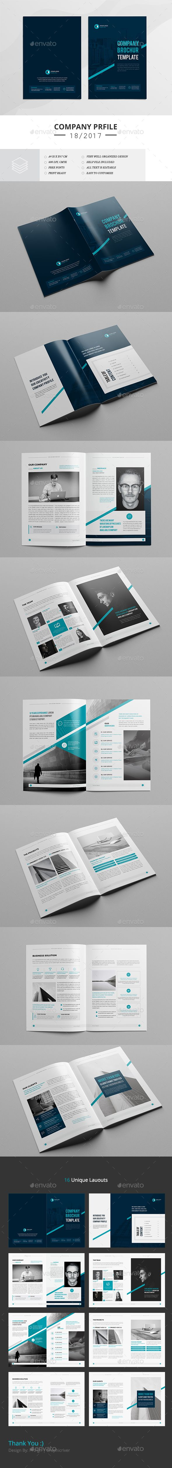Company Profile 16 Pages — InDesign INDD #minimal #trendy • Download ➝ https://graphicriver.net/item/company-profile-16-pages/19770700?ref=pxcr