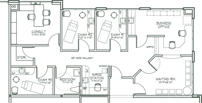 medical office design plan | NEWER (Features) NEARER (Location) NICER (Testimonials) FLOOR PLANS