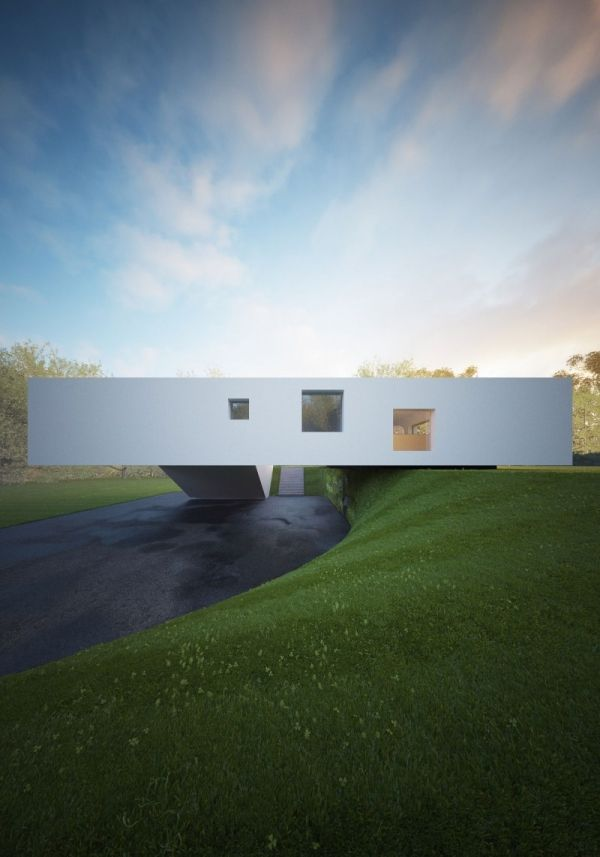 Haus Aus Glas Von Hornung Und Jacobi Seitenblick Minimalistisch