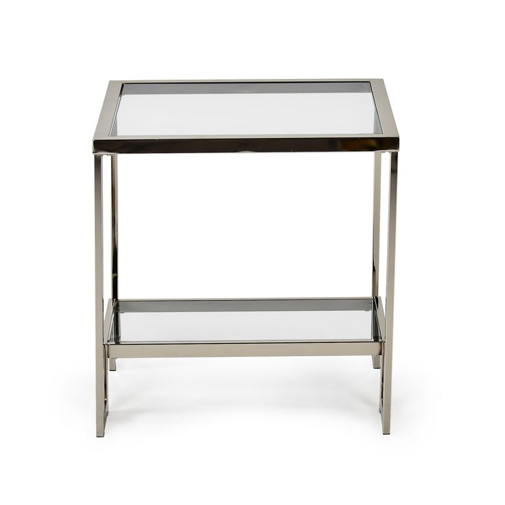 Carol Chrome and Glass End Table - Steve Silver Co.