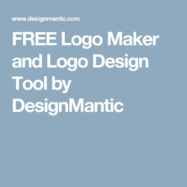 FREE Logo Maker and Logo Design Tool by DesignMantic