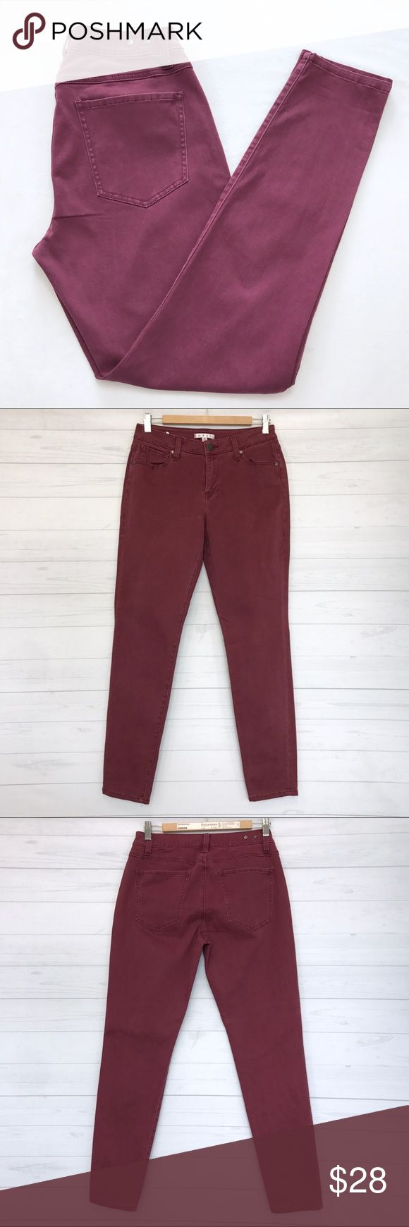 """Cabi Bordeaux Wash Curvy Skinny Jeans Still in good condition. Size 8. Lay Flat Measurement; inseam-30.5"""". Length Approx 40"""". Rise-9.5"""". Ankle Opening-6"""". Waist-14.5"""". Stretchy Fabric. No Trades. No Modeling. No low ball offers. Make a reasonable offer. *H001 CAbi Jeans Skinny"""