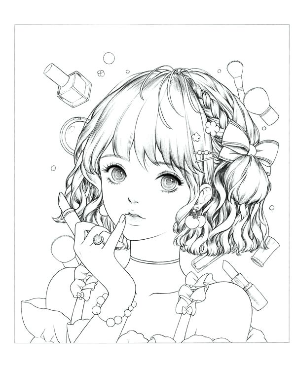 Download Portrait Coloring Book Mystica Coloring Book Art Cute Coloring Pages Anime Drawings Tutorials