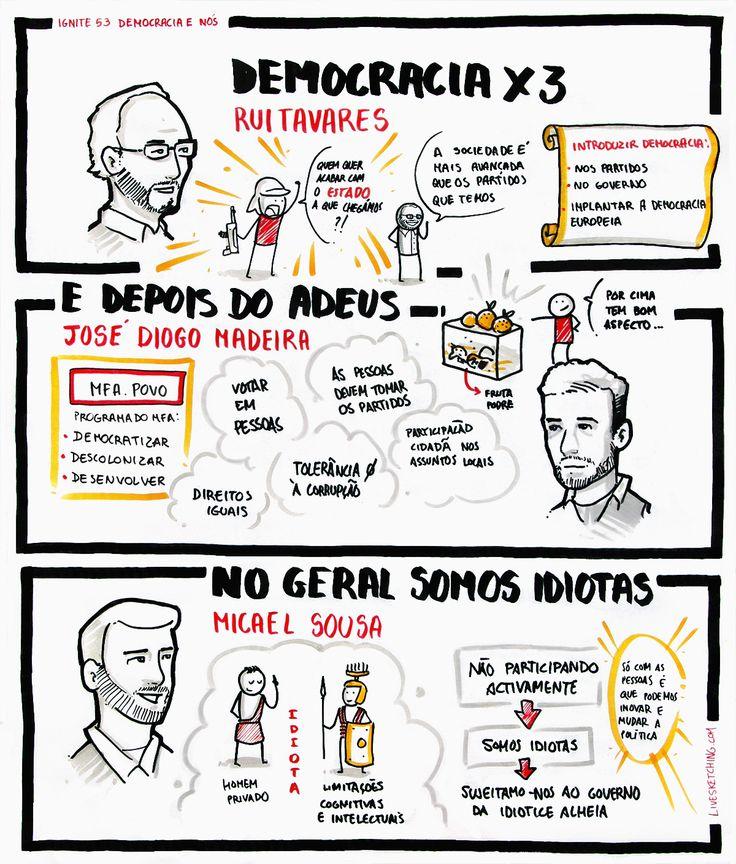 """Rui Tavares - """"Democracia x3""""; José Diogo Madeira - """"E depois do adeus""""; Micael Sousa - """"No geral somos idiotas"""""""