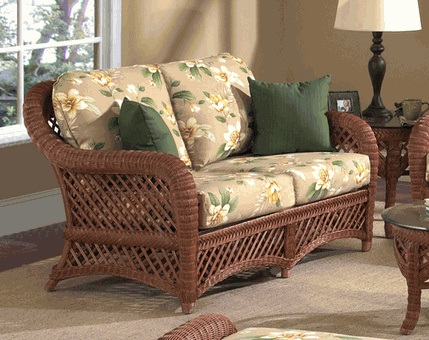 brown wicker furniture lanai loveseat this comfortable loveseat is finished in brown wicker