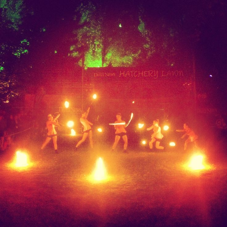 Highly Flammable dancers perform on New Years Eve during the TSB Bank Festival of Lights.