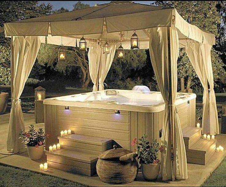 #Backyard #hot #tub.