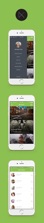 3 iOS UI screens. Free PSD template.