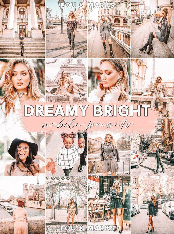 Mobile Lightroom Presets Dreamy Instagram Presets Etsy Lou Marks Lightroom Presets Lightroom