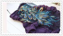 60cm*32cm naaien accessoires hoog- kwaliteit jurk decoratie pailletten applique patch borduurwerk pauw phoenix diy(no lijm(China (Mainland))