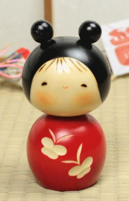 Butterfly Kokeshi - What a sweet girl