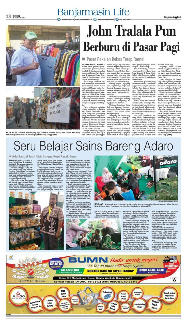 #ClippedOnIssuu from Banjarmasin Post Senin 8 Agustus 2016