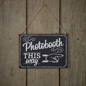 Photobooth -liitutaulukyltti