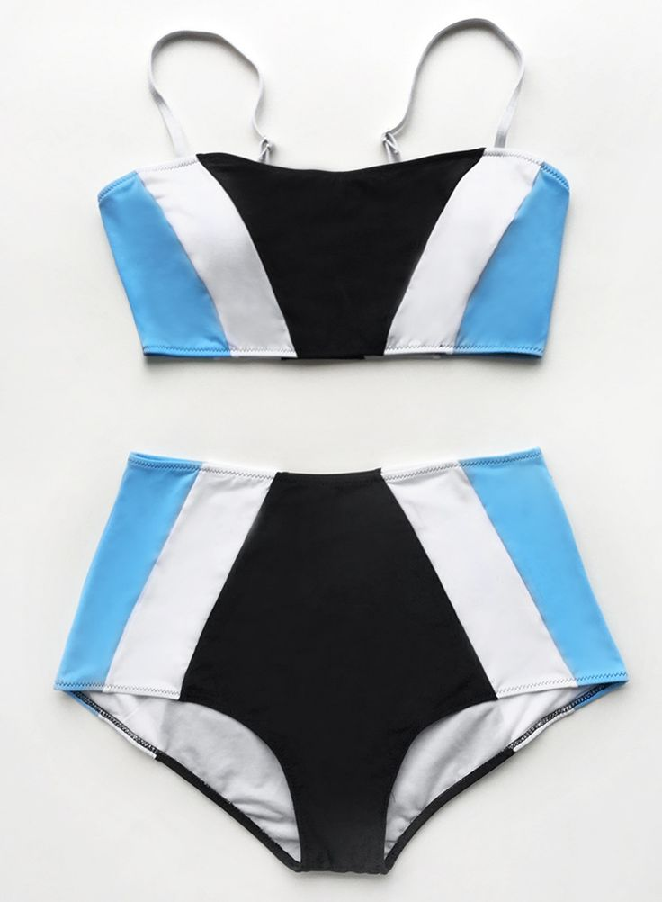 Stunning and comfortable all at the same time! This bathing suit is comfy perfections with stripe pattern, high-waisted fit and adjustable shoulder straps. Show off on the beach from now on~