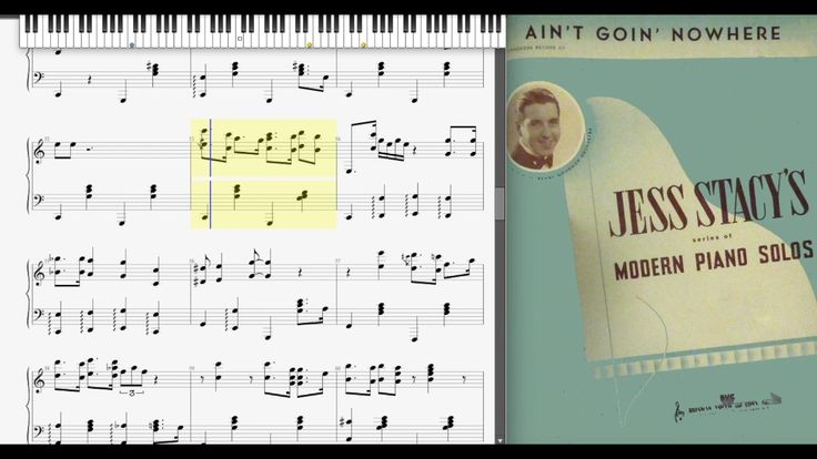 Ain't Goin' Nowhere by Jess Stacy (1939, Jazz piano)