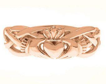 Símbolo de Claddagh irlandés venda de la boda Set para mujeres en amarillo blanco rosa negro oro o plata, joyas de Claddagh irlandés, irlandés Claddagh oro anillo