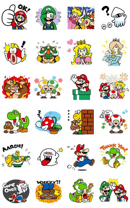 These walking and talking stickers from Super Mario will get you right into the game! Even characters like Bowser and Boo show a whole new playful side! The sound for these stickers will play on iPhones even if your device is set to silent mode.