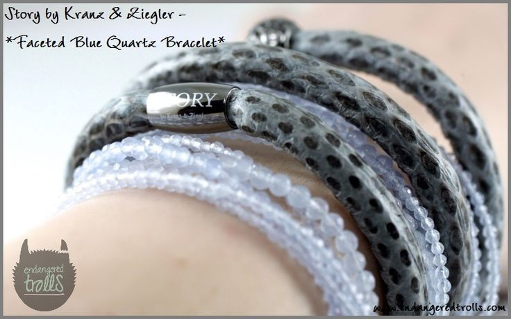 Story by Kranz & Ziegler Faceted Blue Quartz