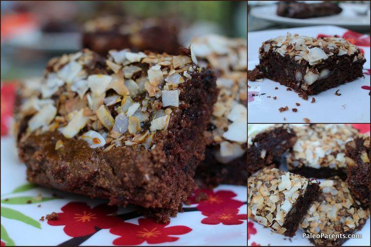 Samoa Brownies 001: Paleo Treats, Brownies Recipes, Almonds Flour, Brownies 001, Paleo Samoa, Samoa Brownies, Brownies Paleo, Paleo Parents, Paleo Desserts