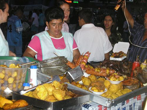Fritanga- All that food, parque Panamericano Cali Colombia, street food