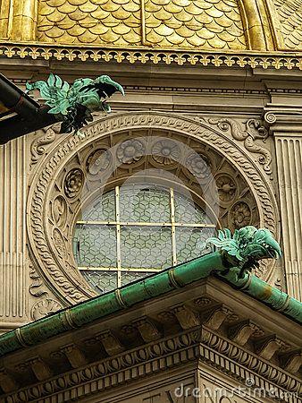 Gargoyles On A Bulding in Cracow. Poland
