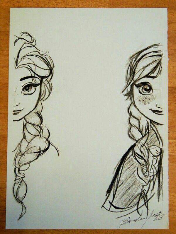 Elsa And Anna. | Drawing | Pinterest | Elsa Anna And Drawings