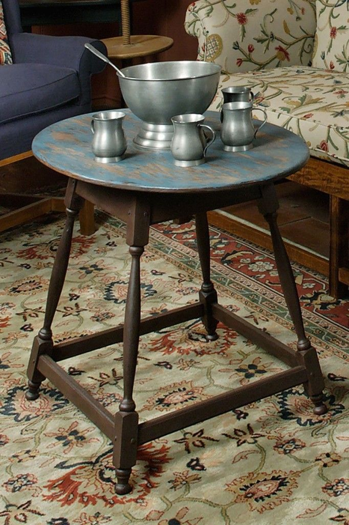 Tavern table and beautiful pewter serving set // Pewter everywhere!